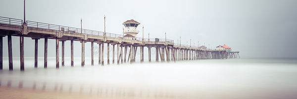 Huntington Beach Pier Panorama Photo