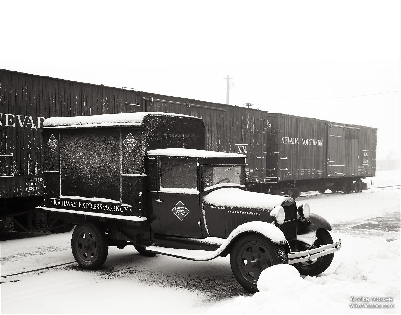 Nevada Northern Railway REA (Railway Express Agency) car