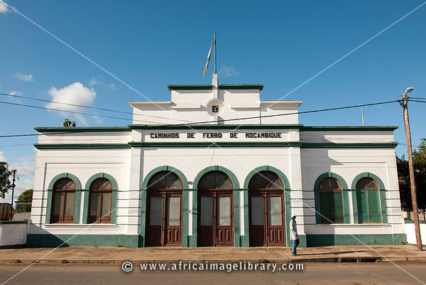 Old railway station, Xai-Xai, Mozambique