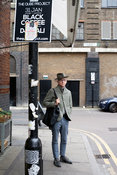 UK - London - A fashionably dressed man on the streets of Shoreditch