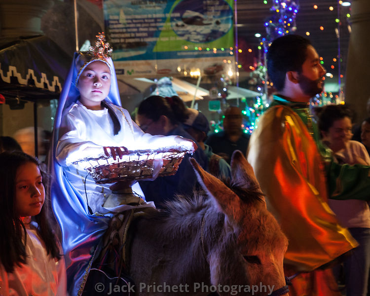 Virgin Mary in street procession