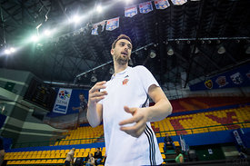 Marko Kopljar during the Final Tournament - Final Four - SEHA - Gazprom league, Kids day in Brest, Belarus, 08.04.2017, Manda...
