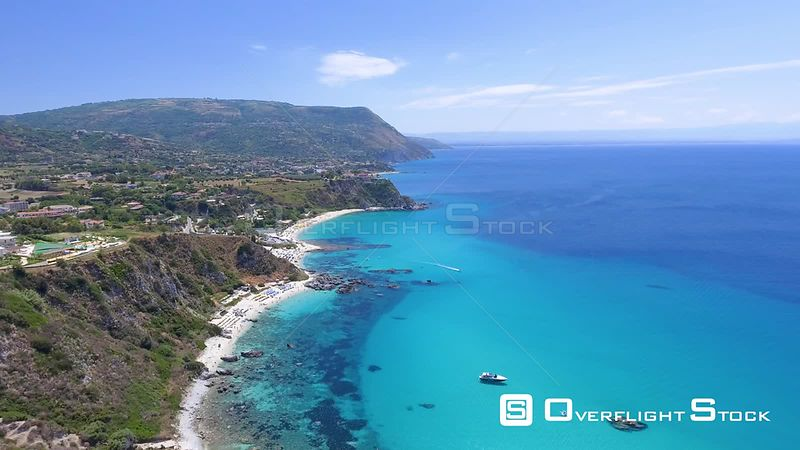 Resorts along the Coastline of Calabria, Italy