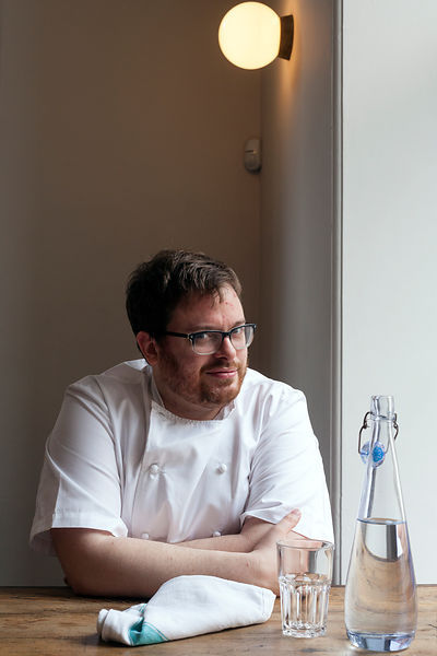 UK - London - Chef Isaac McHale at the Clove Club restaurant