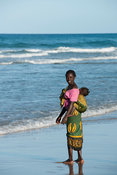 Mother and baby, Ponta Malongane, Mozambique