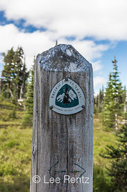 Pacific Crest Trail Sign in the Mt. Adams Wilderness