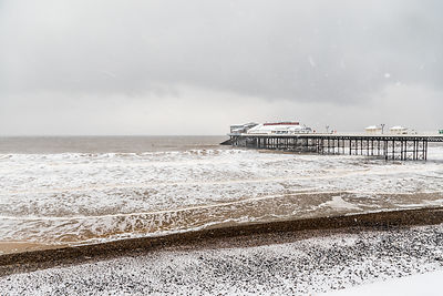 Cromer Pier on a snowy winter's day, Cromer, Norfolk