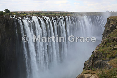 Rainbow Falls without a rainbow, Victoria Falls, Zimbabwe and Zambia