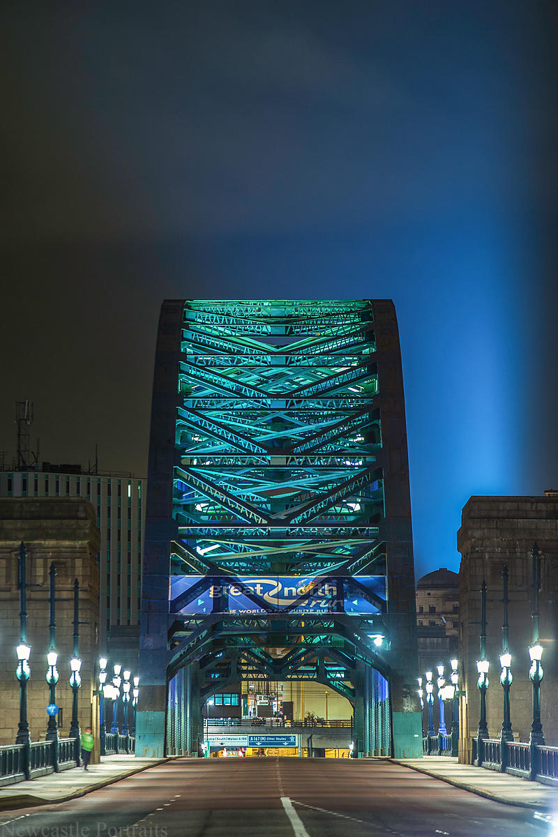 The Tyne Bridge at night