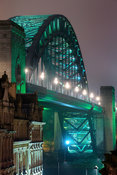 The Tyne Bridge in green