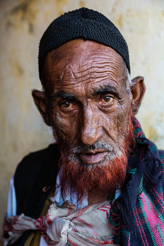 Portrait of a Man at Dal Lake Market