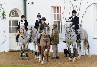 Supporters at the meet - The Belvoir Hunt at Aswarby