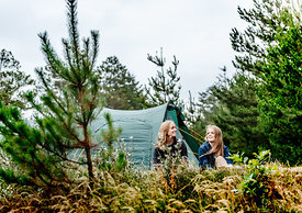 Two girls camping in Denmark 8