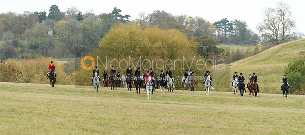 The mounted field near Peakes's. The Cottesmore Hunt at Somerby
