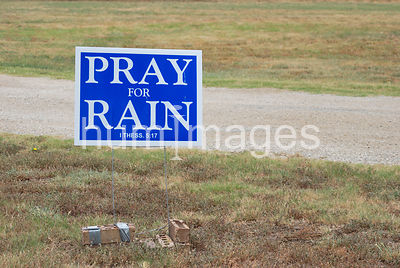 Pray for rain sign in drought stricken area of northwest Texas