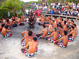 Tribal dancers at Uluwatu Temple