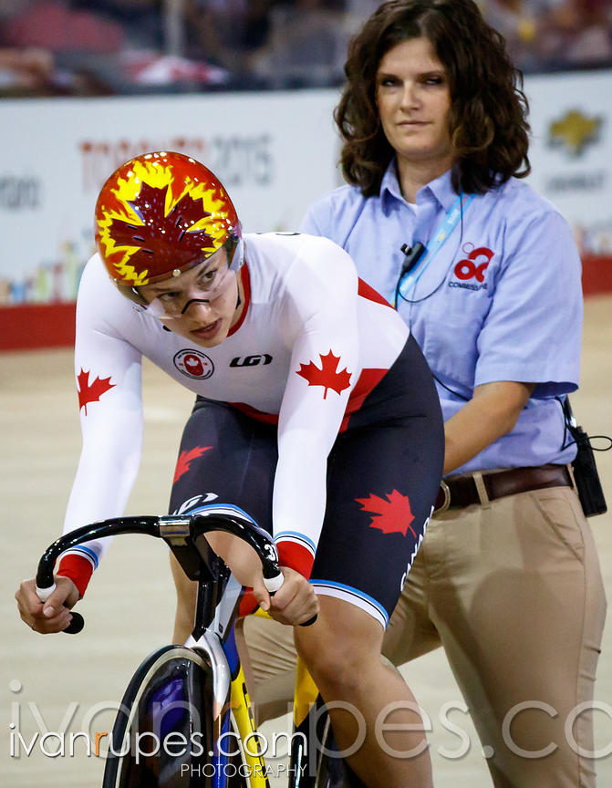 Women's Team Sprint Finals, Track Day 1, Toronto 2015 Pan Am Games, Milton Pan Am/Parapan Am Velodrome, Milton, On; July 16, ...