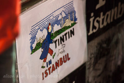 Tintin In Istanbul, and  in the spice market, Istanbul