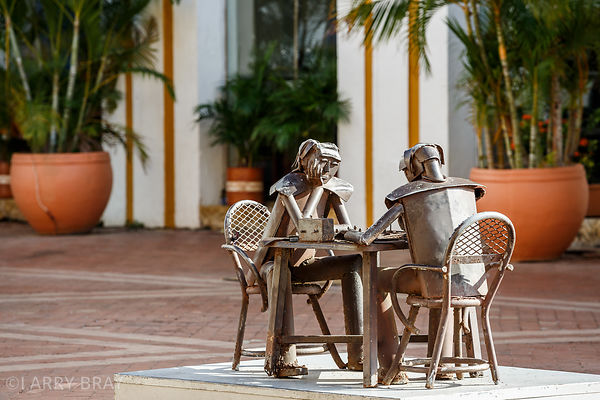 Metal statues in Cartagena,Colombia