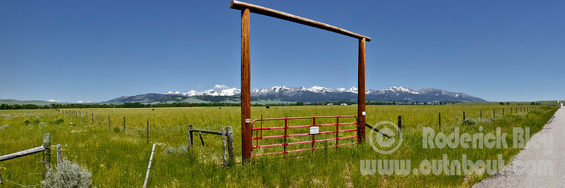Crazy Mountain Ranch Gate