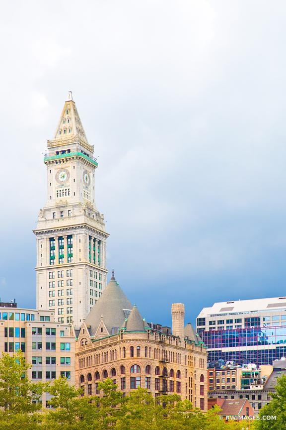 CUSTOM HOUSE TOWER DOWNTOWN BOSTON COLOR VERTICAL