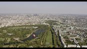 Aerial footage of Hyde Park, Kensington and Knightsbridge, London
