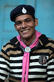 Portrait of a scout in Pushkar, Rajasthan, India