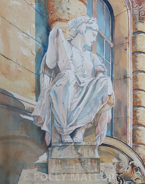 Carved_in_Stone_original_watercolor_plein_air_31_x_26_4200USD