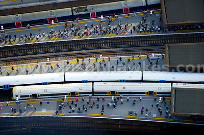 Commuters, London Bridge Rail Station.