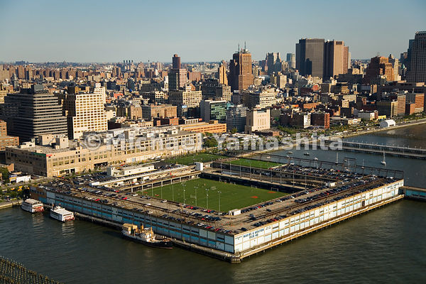 Pier 40, at West Houston Street and the Hudson River, houses the Pier Park and Playground Association, as well as fields for ...