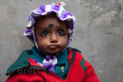 Portrait of a toddler in the Fakir Bagan neigborhood of Howrah, India, in an area served by the NGO Calcutta Kids (calcuttakids.org)