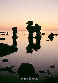 Stone formations in Gotland, Sweden