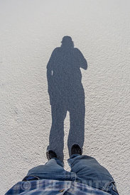 Shadow Selfie in White Sands National Monument