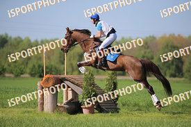 Ferdinánd LASSU (HUN) and ETUSKA during National Qualifier Eventing Competition, cross country, 2018 April 21 - Bábolna, Hung...