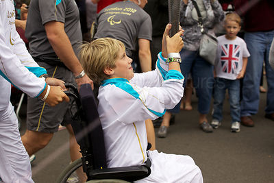 Young Torch Bearer in Westminster