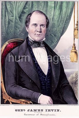 General James Irvin Whig candidate for governor of Pennsylvania ca 1847