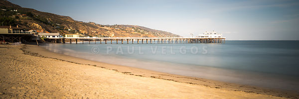 Malibu Pier at Surfrider Beach Panorama Photo
