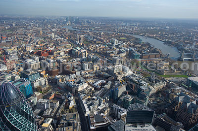 Tower Hill aerial view, London