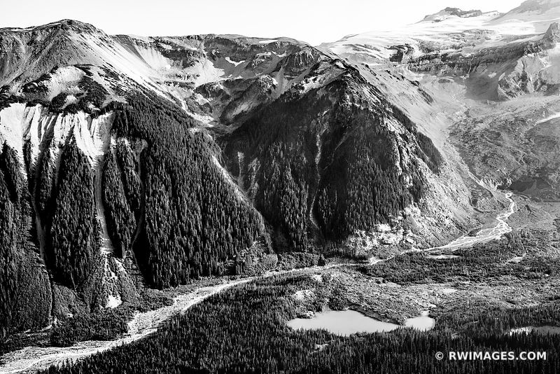 BURROUGHS TRAIL SUNRISE AREA MOUNT RAINIER WASHINGTON BLACK AND WHITE