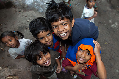 Children in the Fakir Bagan neighborhood of Howrah, India, in an area served by the NGO Calcutta Kids (calcuttakids.org)