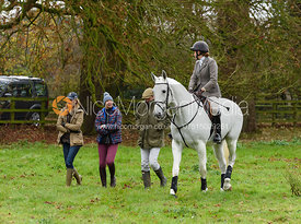 Rose Weatherby at the meet. The Cottesmore Hunt at Somerby