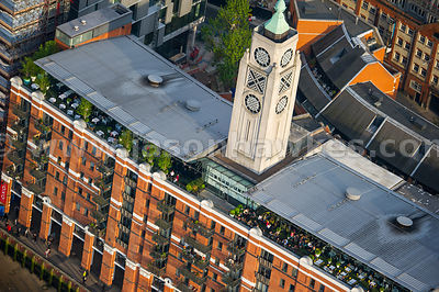 Aerial view of the OXO Tower, London
