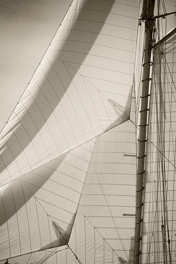 close up of sails
