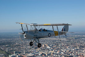 Tiger Moth flying over Geelong