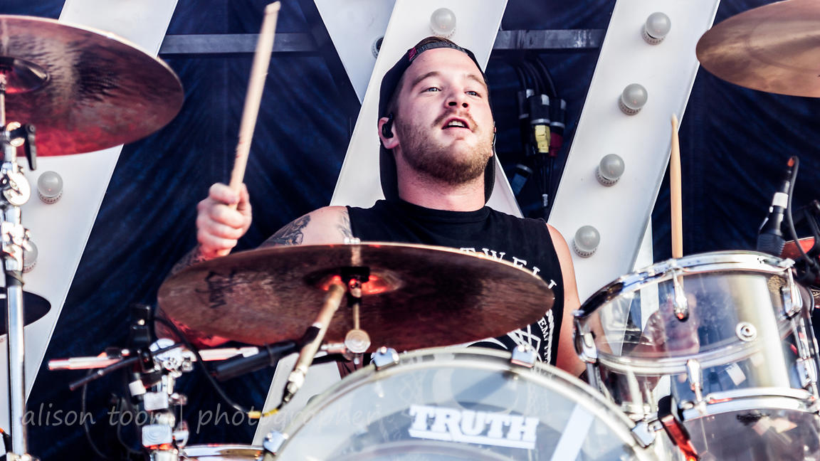 Gabe Barham, drums, Sleeping With Sirens
