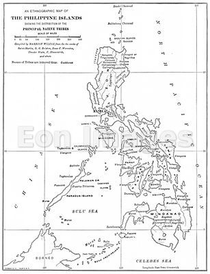 19th-century ethnographic map of Philippines