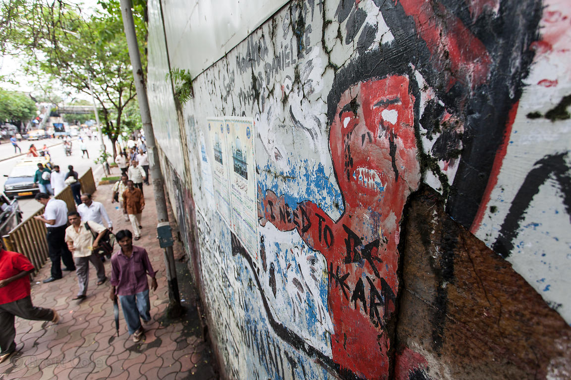 Graffiti on a wall in Lower Parel Mumbai, India.