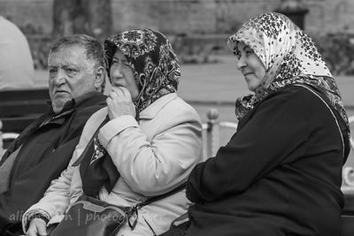 Two women and a man, Istanbul, Turkey