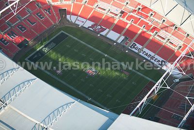 Aerial view over Wembley Satdium, London