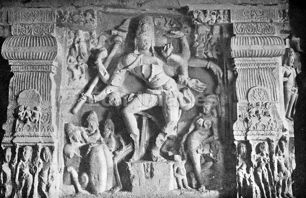 Sculpture of Shiva's Dance at Ellora